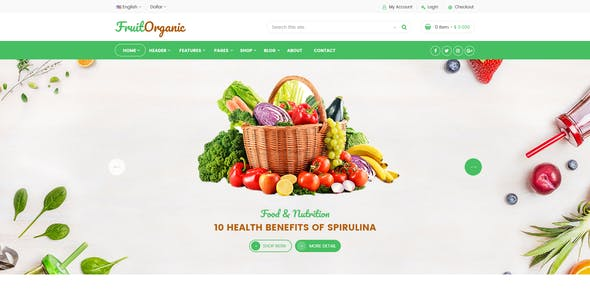 Fruit - Organic eCommerce Template