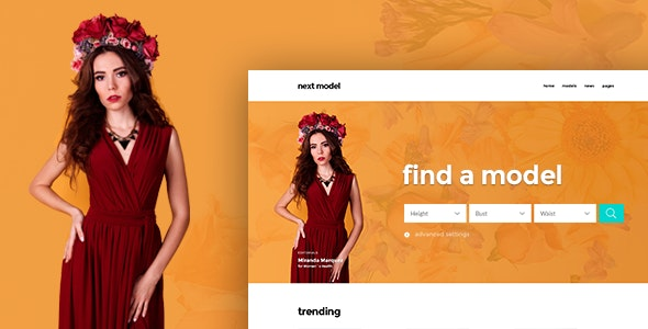 Nextar - Stylish Directory Template for Model Agency - Photoshop UI Templates