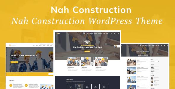 Nah Construction, Building Business WordPress Theme - Business Corporate