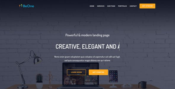 BeOne - One Page Parallax