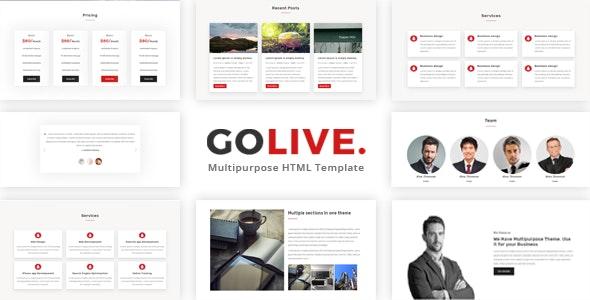 GoLive - Multipurpose Bootstrap Template - Corporate Site Templates
