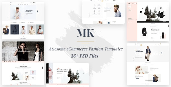MK Shop - Awesome eCommrece Fashion PSD Template - Fashion Retail