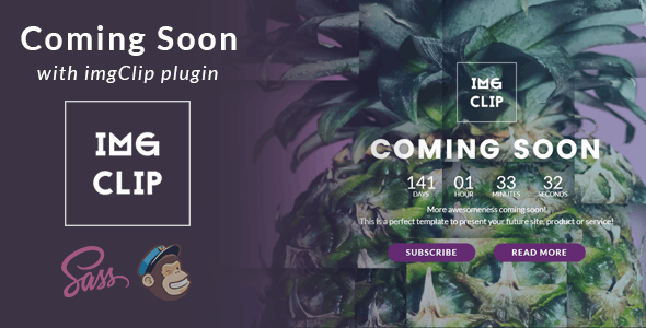 Coming Soon Template with imgClip Plugin - Under Construction Specialty Pages