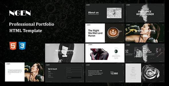NEGN - HTML Portfolio Template - Portfolio Creative