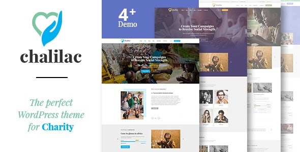Chalilac - WordPress Charity Theme - Charity Nonprofit