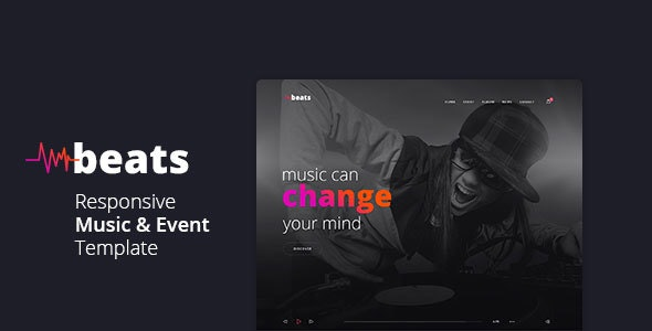 Beats - Responsive Music & Event Template - Music and Bands Entertainment