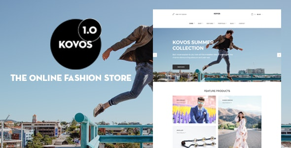 Kovos - The Online Fashion Store PSD Template - Retail Photoshop