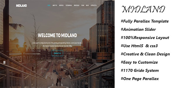 Midland - Parallax Template - Creative Site Templates