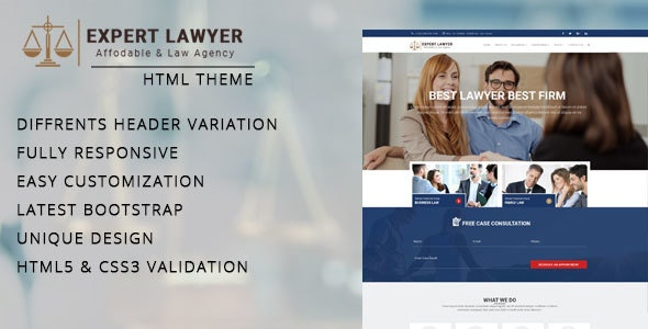 Lawyer - Company HTML Template - Site Templates