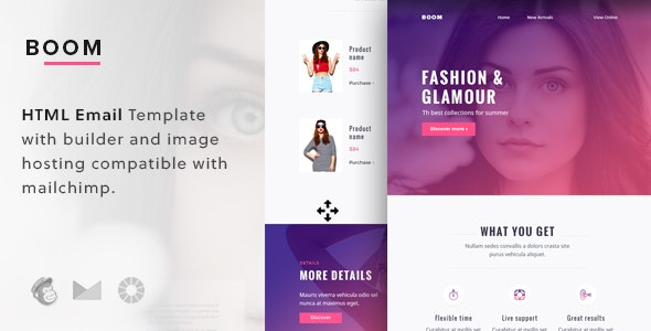 Boom - Responsive Email Template + Mailchimp Editor & Builder - Email Templates Marketing