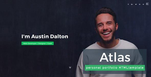 Atlas - Personal Portfolio Template - Creative Site Templates