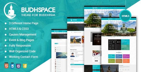 Buddha BuddyPress HTML Template - Churches Nonprofit