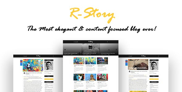 R-Story - Creative Personal Blog - HTML Template