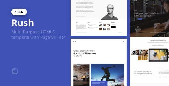 Rush – Multi-Purpose HTML with Page Builder - Corporate Site Templates