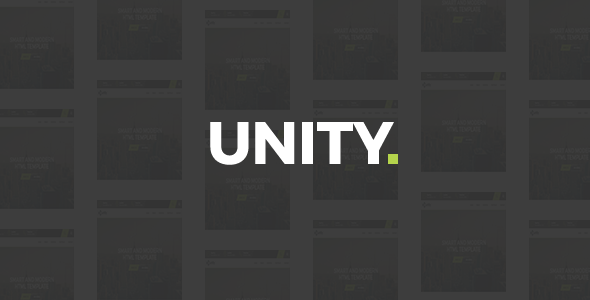 Unity - Agency HTML Template - Business Corporate