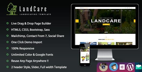 LandCare – Landscaping & Gardening WordPress Theme - WordPress