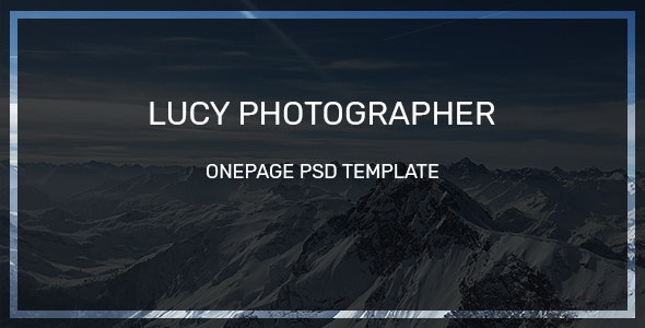 Lucy Photographer Onepage-PSD Template - Photography Creative