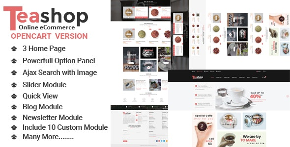 TeaShop Multipurpose OpenCart Template - Shopping OpenCart