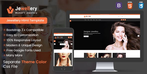 Jewellery Shop - Multipurpose E-commerce Responsive Html5 template