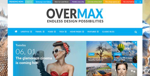 Overmax - Clean WordPress Magazine & Lifestyle Theme