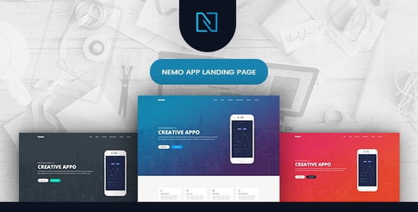 Nemo - App Showcase Landing Page - Software Technology