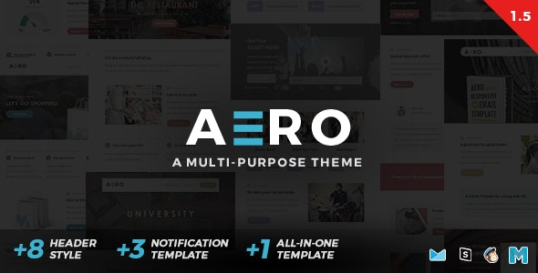 Aero | Newsletter Set - Newsletters Email Templates