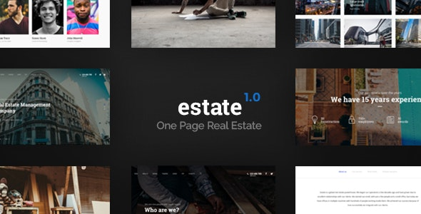 Estate - One Page Real Estate Template - Corporate Photoshop