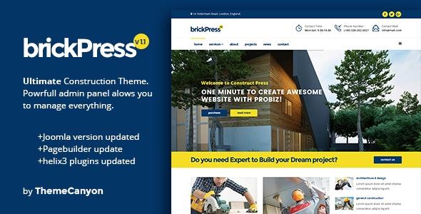 BrickPress - Construction & Business Joomla Template - Business Corporate