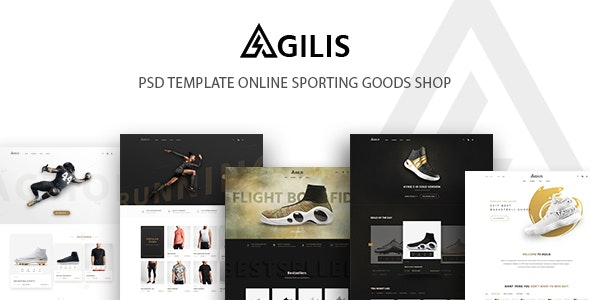 Agilis_Sport Good Store - PSD Template - Retail Photoshop