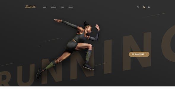 Agilis_Sport Good Store - PSD Template