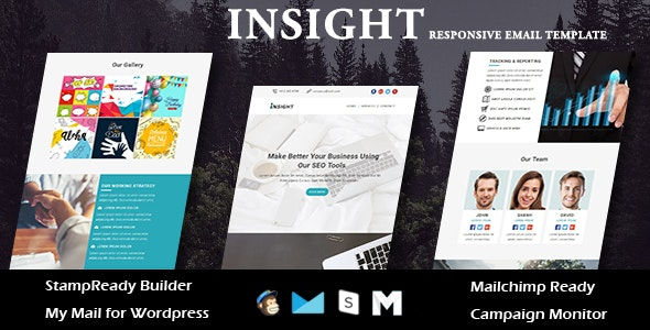 INSIGHT - Multipurpose Responsive Email Templates with Stamp Ready Builder Access - Newsletters Email Templates