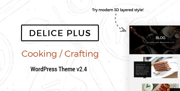 Delice Plus Cooking or Crafting WP Theme • by CookPress by bogoiskatel