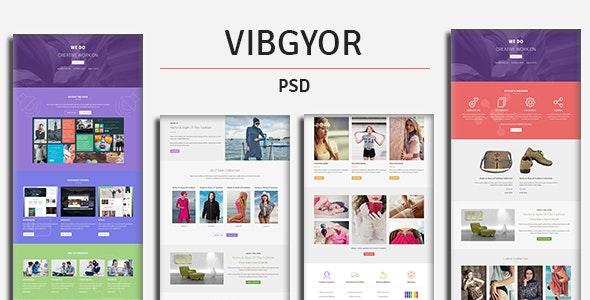 VIBGYOR - PSD Template - Creative Photoshop