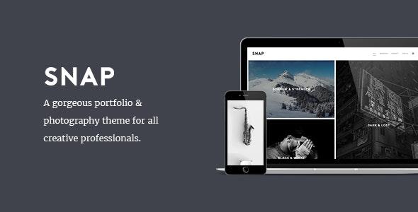 SNAP - Creative Portfolio / Photography WordPress Theme - Photography Creative