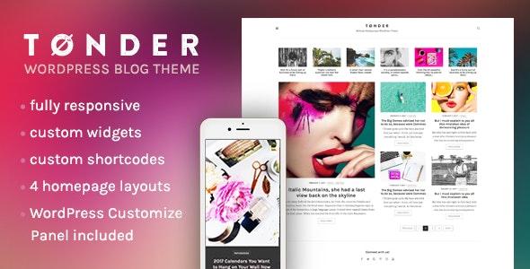 Tonder - Minimal Multipurpose WordPress Theme - Blog / Magazine WordPress