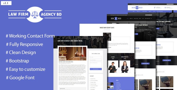 Law Firm Agency Template - Corporate Site Templates