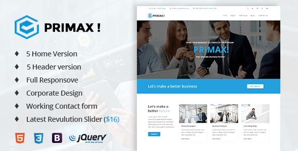 Primax! - Corporate Business Template - Business Corporate