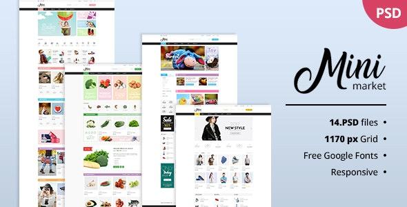 MiniMarket - Multi-Purpose Groceries PSD Template - Fashion Retail