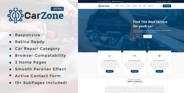Car Zone || Auto Mechanic & Car Repair Template - Business Corporate