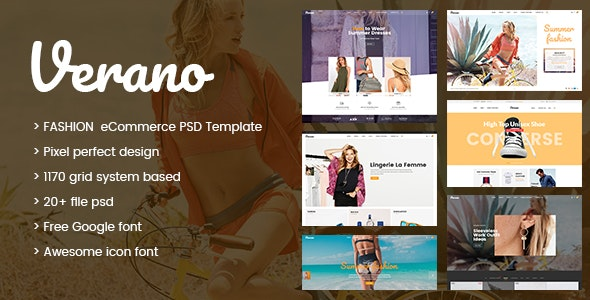 Verona - Ecommerce PSD Template - Retail Photoshop