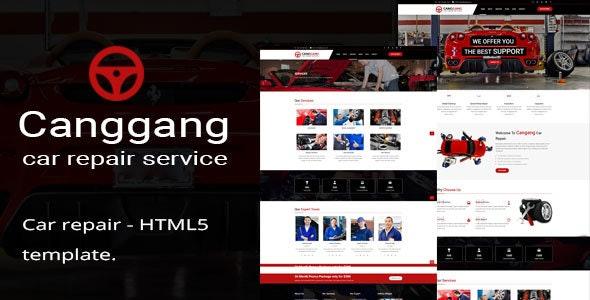 Canggang || Auto Mechanic & Car Repair Template - Business Corporate
