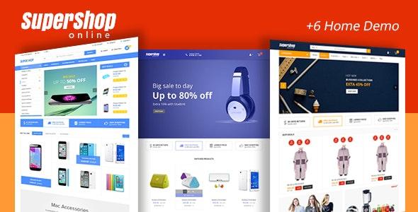Supershop - Market Store RTL Responsive Html Template - Retail Site Templates