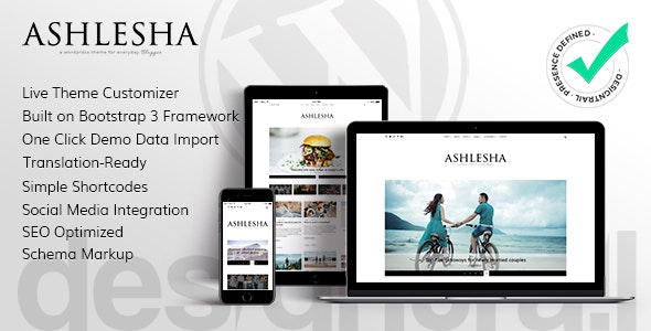 Ashlesha - Blog WordPress Theme - Personal Blog / Magazine
