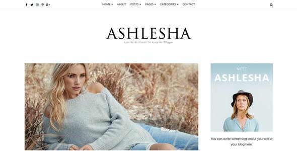 Ashlesha - Blog WordPress Theme