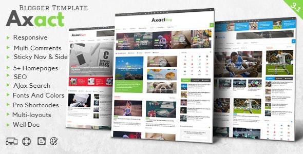 Axact - Responsive Magazine Blogger Theme - Blogger Blogging