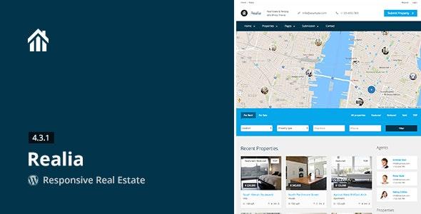 Realia - Responsive Real Estate WordPress Theme - Real Estate WordPress