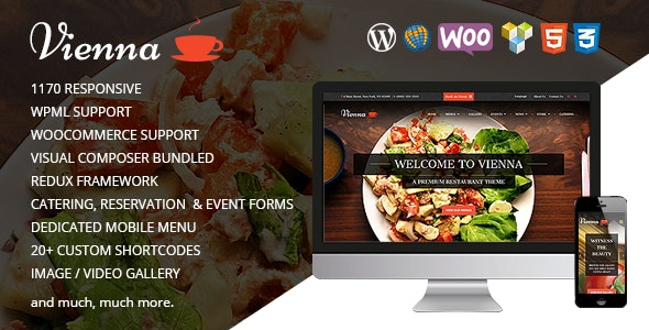 VIENNA - Responsive WordPress Restaurant Theme - Restaurants & Cafes Entertainment