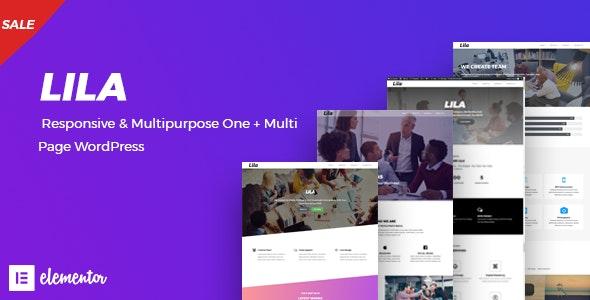 Lila - One Page WordPress - Creative WordPress