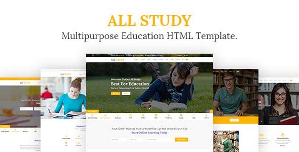 All Study- Multipurpose Education HTML Template