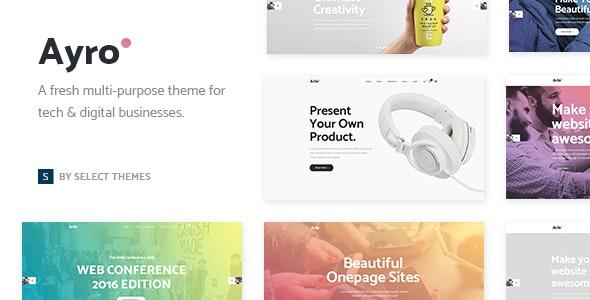 Ayro - Tech Startup Theme - Technology WordPress